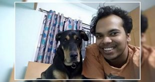 Crocodile attacked the dog owner
