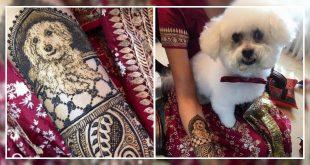 Bride Got Her Dog's Face On Her Mehendi