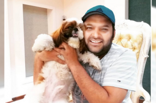 Kapil Sharma With His Pet Dog Cheeku
