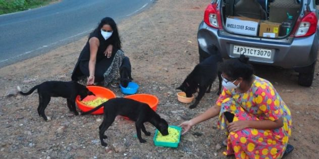 Now, feeding stray dogs is full-time responsibility for this woman in Visakhapatnam