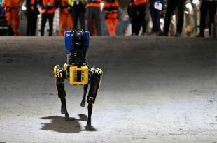 Researchers have a new best friend Robot dog gets to work