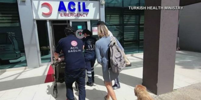Dog follows ambulance after owner becomes ill