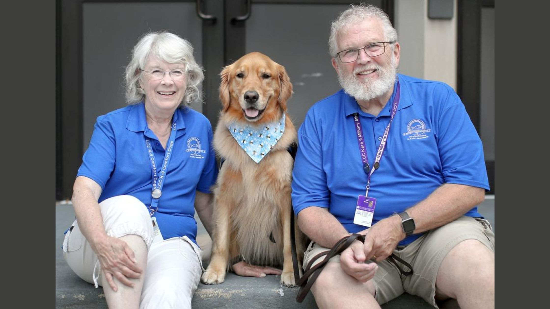 Mary: A Golden Retriever gives comfort in Surfside, Florida